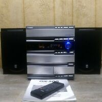 Yamaha GX-500 3CD Changer Cassette AM/FM Speakers Remote Manual Tested Works MK9
