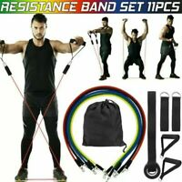 11 PCS Resistance Band Loop Set Exercise Workout Crossfit Fitness Yoga Pilates