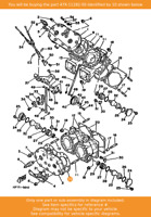 YAMAHA Gasket, Cylinder Head 2, 47X-11182-00 OEM RD500LC