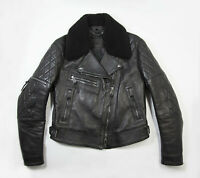 Belstaff Avery Quilted Moto Leather Biker Jacket Made in Italy $3250 Size 46 IT
