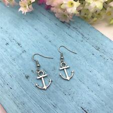 Anchor Earrings, Beach Earrings, Nautical Earrings, Shell Earrings Beach Weddin