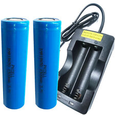 PKCELL 18650 Li-ion Battery 30A High Amp 20C For Vape Mod x 2 + Dual Charger