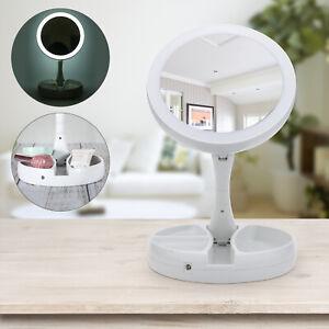 1/2x Kosmetikspiegel LED Beleuchtet 10fach Vergrößerung Schmink Spiegel Rasur