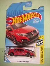 HOT WHEELS 2018  126/365  '16 Honda Civic Type R  HW SPEED GRAPHICS 2/10  RED