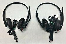 Lot of 2 Plantronics Blackwire Headsets 1x C325 1x C225