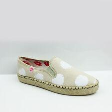 Tejido para Mujer Plataforma Plana Suela Antideslizante En Alpargatas Bombas Zapatos De Las Señoras Talla 3-8