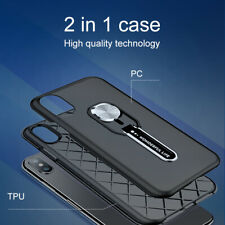 Anti-fall Magnetic Stand Silicone Finger Ring Case Cover For iPhone 11 Pro Max