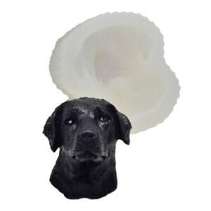 Labrador Dog Silicone Fondant Cake Chocolate Baking Mold Soap Candle Wax Mould