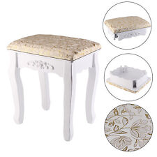 Gold Dressing Table Stool Vintage Piano Chair Padded Makeup Decor Padded Dresser