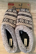 Dearfoams $28 Knit Clog Memory Foam Slippers Women's XL 11-12 NEUTRAL COMBO NWT