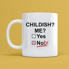 Childish Nob Mug Novelty Funny 11oz Ceramic Coffee Tea Birthday Joke Cup Gift