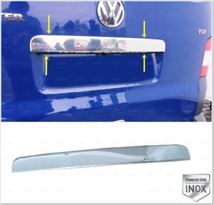 Chrome rear trunk lid for vw t5 transporter caravelle multivan 2003+