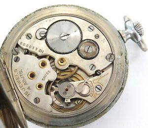 VINTAGE WYLER HIGH GRADE 15J 4 ADJUSTS MENS POCKET WATCH.