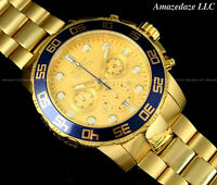 NEW Invicta Men 50mm Pro Diver Scuba Chronograph Stainless St. GOLDEN DIAL Watch