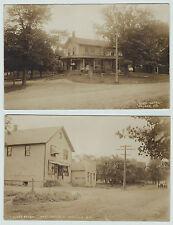 Rare 2 Real Photos - Walker / Hamlin Ny 1908 Rppc Monroe Co Rochester area
