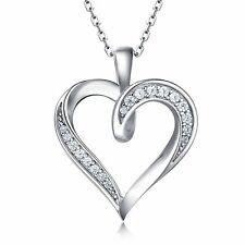 Billie Bijoux 925 Sterling Silver Infinity Love Heart Necklace Platinum Plate...