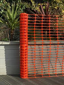 New Heavy Duty 5.5kg Plastic Mesh Barrier Safety Fence Net Netting Orange + Pins
