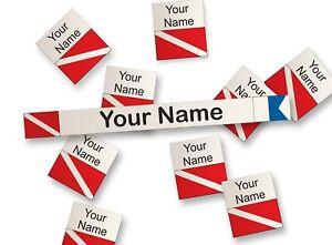 Personalized Waterproof Stickers Labels Scuba Diving Gear Sticker Tags 172 pcs