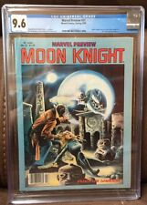 Marvel Preview #21 CGC 9.6  WHITE PGS Moon Knight pre-dates #1 SIENKIEWICZ
