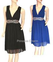 Princess Charm AU Size 10 12 14 16 18 20 22 Black Blue Cocktail Party Dress New