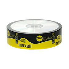 MAXELL 25 PACK OF 52X SPEED 80 MINUTE CD-R DISCS 700MB - 624035