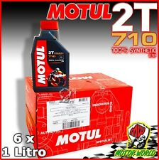 6Lt Olio Miscela Moto Scooter Motul 710 2T 100% Sintetico Estere SYNTHETIC ESTER