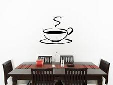 Taza de Café Letrero Tienda Té Cocina Comedor ADHESIVO pared imagen