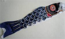 "59"" L Black Koinobori Kite Children's Day Carp Steamers Windsocks Wind Chime"