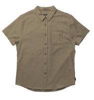 Rusty Overtone Short Sleeve Linen Shirt - RRP 69.99 - FREE POST