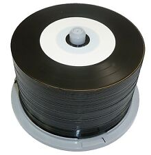 50 Ritek Black Bottom Vinyl CD-R 52x 700MB blank discs White Printable