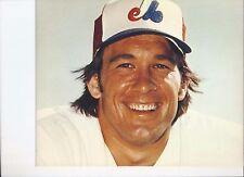 8 1/2 x 11 Gloss Photo Gary Carter Montreal Expos {177}