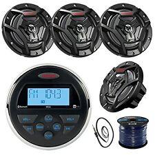 """Jensen MS3ARTL Marine Receiver, 4x 100-W 6.5"""" Speaker, Radio Antenna, 50Ft Wire"""