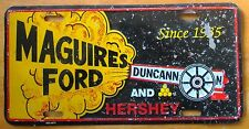 1987 MAGUIRE'S FORD DUNCANN AND HERSEY PA CANNON BOOSTER License Plate