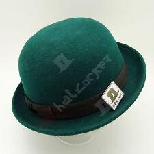FASHION Wool Felt Women Bowler Hat Men Soft Derby Party Unisex | 57cm | Green