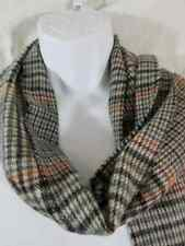 Men's Dockers winter scarf blue tan brown plaid fringe classic winter business