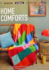 HOME COMFORTS Book 369 - 10 THROWS - Knit & Crochet in 8 ply Patons, Cleckheaton
