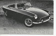 MGB Sports Car Santa Cruz Boardwalk Penny Arcade Card 1960s