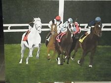 Horse Derby Oil Painting on Canvas