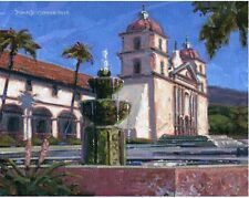 COLOR PRINT OF OIL PAINTING, CALIFORNIA MISSION #6