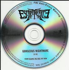 ESCAPE THE FATE Gorgeous Nightmare PROMO DJ CD Single 2010 USA seller MINT
