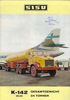 Sisu K-142 6x2 Tractor Unit Truck 1968 German Market Sales Brochure
