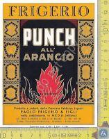 Etichetta - Label  PUNCH ALL'ARANCIO - FRIGERIO & FIGLI - Meda - Anni 60/70
