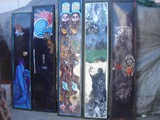 RARE ONE OF A KIND LIB TECH SNOWBOARD FRAMED ART BY Quincy Quigg 6' tall