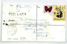 GUYANA Tuschen GB Southampton REGISTERED 1981 TOO LATE {samwells-covers} CW202