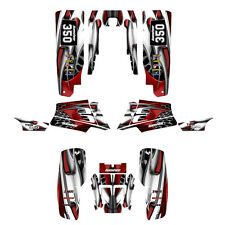 Yamaha Banshee 350 graphics custom full coverage sticker kit #4444 Red Tribal