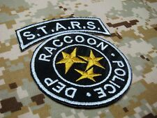Resident Evil Umbrella STARS Reccoon Embroidery Patch Black Background