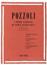 RICORDI Pozzoli, Ettore - I PRIMI ESERCIZI DI STILE POLIFONICO
