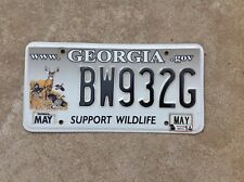 GEORGIA LICENSE PLATE - SUPPORT WILDLIFE