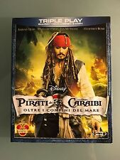 DISNEY BLU RAY PIRATI Oltre i confini del mare . Triple play con slipcover