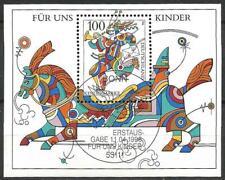 """Germany 1996 CTO - """"For us Children"""" Post Runner Horse Minisheet Block 35 MS2708"""